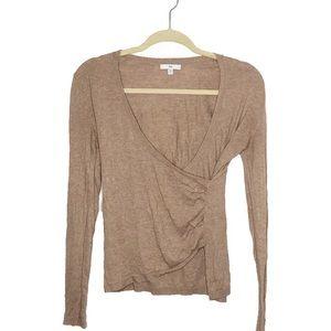 Gap Long Sleeve Tan Wrap Shirt Size XS